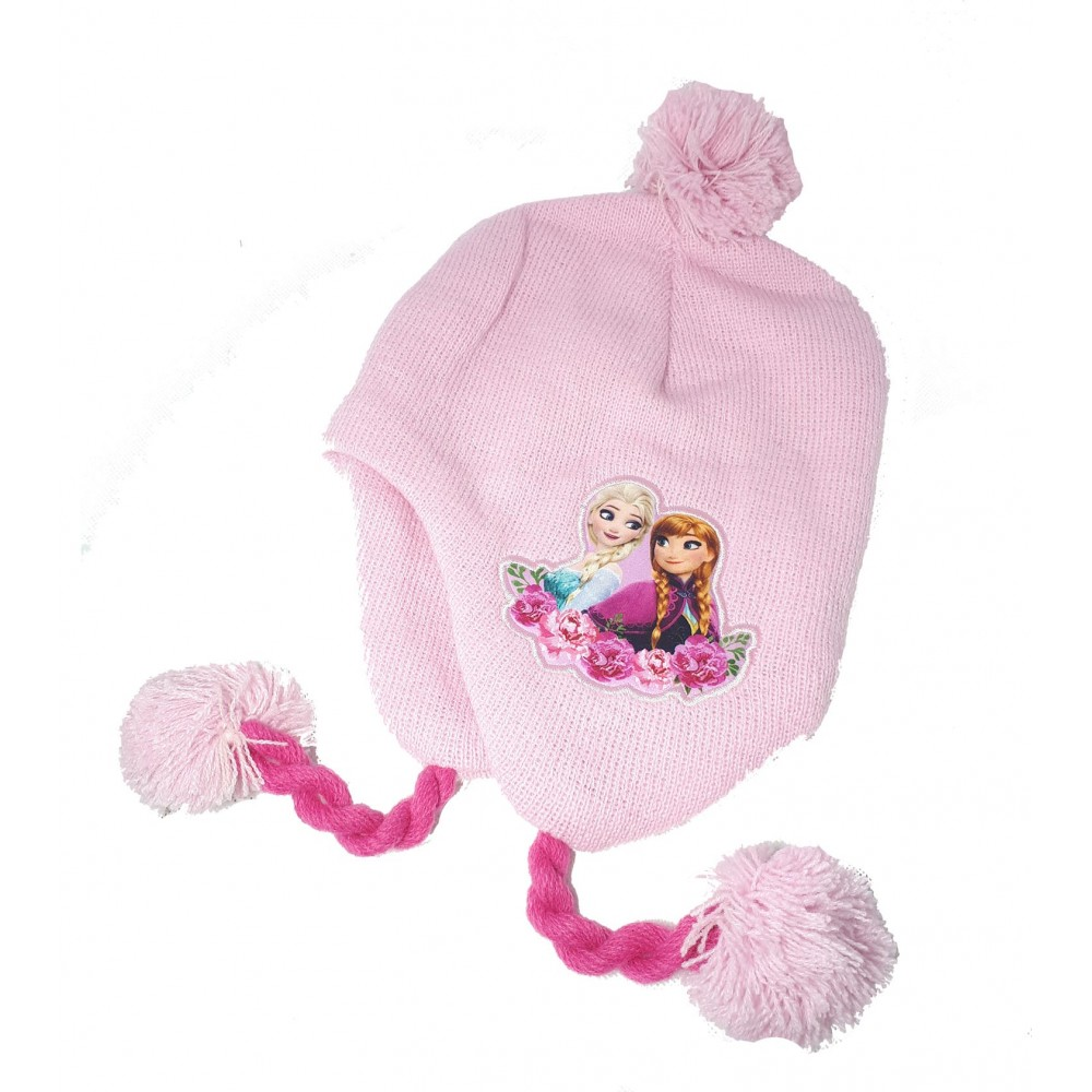 df44d5b40621 La Reine des neiges Bonnet péruvien Fille Frozen - Rose